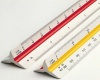 Architect scale ruler, 30cm